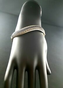 Silver & Marcasite Bangles for Women with Blue Sapphire or Emerald or Ruby