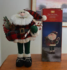 "Holiday Living Fiber Optic Santa 18"" tall"