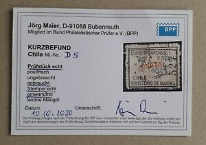 Chile 1907 Official – Marina Oficial – blue  Carta yellow – Copy 527 – MAIER BPP