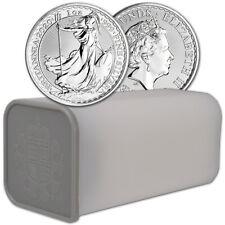 2020 Great Britain Silver Britannia £2 - 1 oz - BU - 1 Roll - 25 Coin Mint Tube