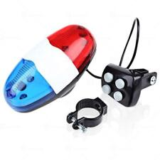Zone Tech Bicycle Cycling Horn Bell 6 LED Light 4 Sounds Trumpet Horn Siren Tone