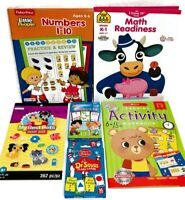 K-2nd Math, Numbers, Counting Workbooks, Activities and Learning with Flashcards
