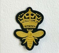 Royalty Bee Beestrong Embroidered Iron Sew on Patch j1598