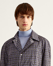 Dunhill. Men's Houndstooth Rain Mac. Digital print. Size XL RRP £895. BNWT.