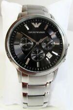Emporio Armani Classic AR2434 43 mm Black Case Silver Bracelet Wristwatch for Men