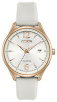 Citizen Eco-Drive Women's FE6103-00A Chandler Rose Gold Tone Accents 37mm Watch