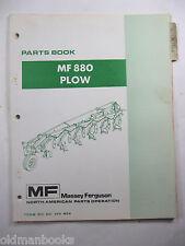 MASSEY FERGUSON MF 880 PLOW PARTS BOOK 1975 NO. 651 290 M94
