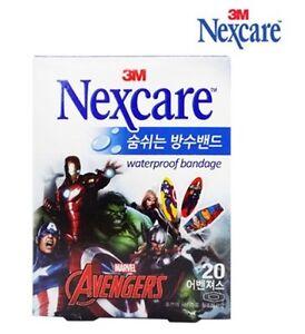 3M NEXCARE Waterproof Bandage Avengers Frozen Pooh Character Skin Wound 4 Kids