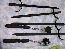 Vintage Replica Medieval Flail Single-Spiked Ball & Chain Mace & Swords
