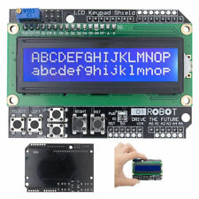 1602 LCD Board Keypad Shield Blue Backlight Arduino UNO Mega2560 HD44780 Display