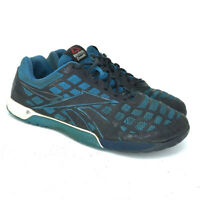 Reebok Mens CrossFit CF7+ Blue Black Running Shoes Lace Up Low Top Size 10.5