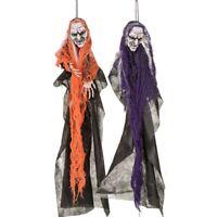 """2x Halloween-Deko Dekoration Grusel-Kunststoff-Figur 70 cm Helloween """"Skull V"""""""