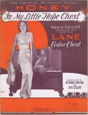 In My Little Hope Chest (Nancy Carroll with her Lane Cedar Chest), 1930 music