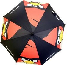 Black Angry Birds Umbrella Kid Size 3d Figurine Handle Licensed Product