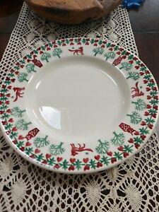 EMMA BRIDGEWATER  1 fox & owl Christmas joy 10 1/2 dinner plate seconds