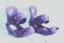MSRP $189.95 Burton Stiletto Purple Snowboard Binding Women's Size Large