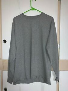 Nice Mens Shirt Top Tee Fruit of the Loom FotL Size XL Grey Long Sleeves