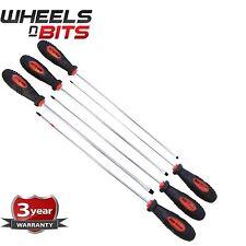 Long Reach 6PC SCREWDRIVER SET Heavy Duty Tool Easy Grip Handle Flat Phillips