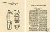 PEZ Dispenser US Patent Art Print READY TO FRAME!! 1952 Uxa Candy no feet