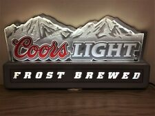 � Rare Vintage Large Coors Light Bar Sign Luminated Rocky Mountains Sign