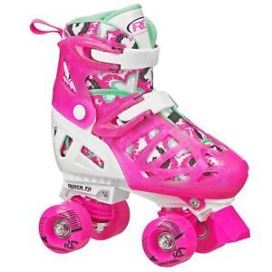 Roller Derby Trac Star Kids Girls Adjustable Roller Skates Size US12- 2  Pink