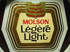 "MOLSON LEGERE LIGHT beat-up beer tray Canada 13"" serving tray 1984"