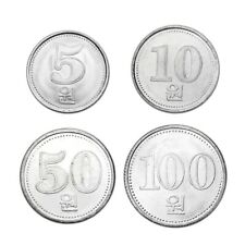 North Korea coins X 4