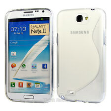 HOUSSE ETUI COQUE SILICONE GEL SAMSUNG GALAXY NOTE 2 TRANSPARENT
