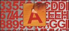"""2""""  (50mm) GLOSS  RED SELF ADHESIVE VINYL LETTERS/ NUMBERS and MARKS Signs DIY"""