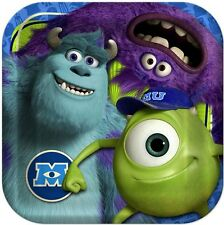 MONSTER Inc UNIVERSITY ~(8) Large Lunch Plates~ Birthday Party Supply Decoration
