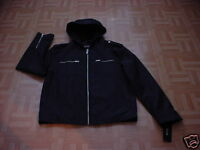 Guess Men's Black Hooded Zippered Jacket Size 34-36 Small