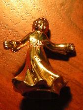 STATUETTE mini statue D'ANGE en METAL dorée ANGEL couleur or