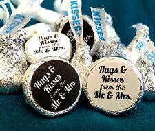 Custom Hershey Hugs & Kisses Labels - Wedding/Shower -ANY COLOR- 2 Designs/Order