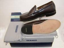 Sebago Leather Sole Rubber Heel Penny Loafer, burgandy