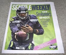 RUSSELL WILSON SEATTLE WEEKLY NEWSPAPER MAGAZINE JANUARY 8-14, 2014 SEAHAWKS