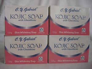 C.Y. GABRIEL KOJIC SOAP WITH GLUTATHIONE SKIN WHITENING-4 BARS OF 135G