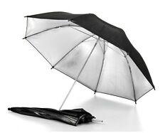 "33"" 2in1 Photo Studio Light White Soft/Black Reflector Umbrella"