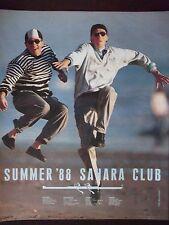 1988 Sahara Club Men's Clothing Original Advertisement