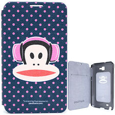 Paul Frank Samsung Galaxy Note Flip Cover Phone Case - Pink Dots HeadPhone