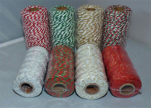 5/10M ASSORTED COLOURED COTTON BAKERS STRING CORD TWINE - 2PLY#CRAFT/GIFTS