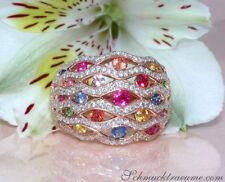 Runde Ringe im Band-Stil mit echten Edelsteinen Diamant