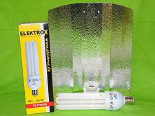 Elektrox Sparset 125 W Flower Blüte Energiesparlampe + Reflektor ESL Set 2700K
