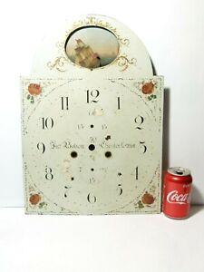 Antique Enamel Jno Bolton Chester-le-Street Moving Ship Long Case Clock Dial