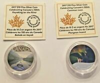 (2) 2017 150th Anniversary of Canada coins - Kayaking & Common Loon with COAs