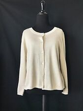 Knitted & Knotted Anthropologie Cardigan Size L Lace back long sleeve Women's