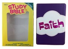 BHKids NKJV Study Bible for Kids, Faith Leather Touch (2015, Imitation Leather)