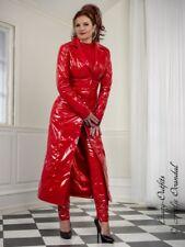 Lackmantel Lack Mantel Rot Glänzend Bodenlang Vinyl Maßanfertigung
