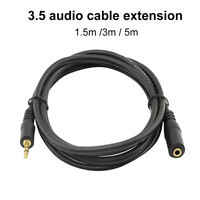 HD_ 3.5mm Jack Male to Female Audio Extension Cable AUX Cord for Headphone Effic