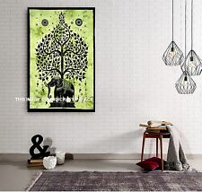 Tree of Life Psychedelic Wall Hanging Elephant Tapestry Indian Throw Wall Decor