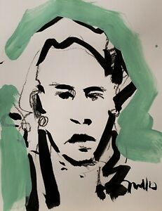 JOSE TRUJILLO ORIGINAL Art SIGNED ACRYLIC on Paper PAINTING MODERNISM NEW